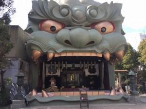 難波八阪神社 獅子頭