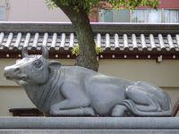 大阪天満宮の牛
