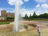 噴水のある公園in松原市 新町南公園