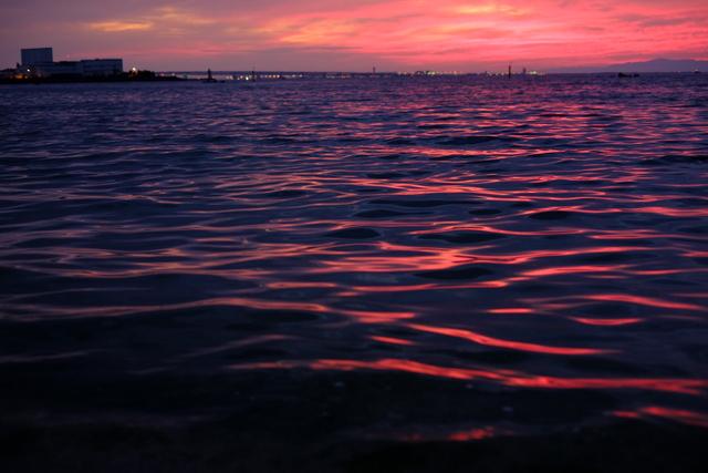 二色浜の夕陽