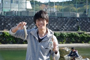 高槻市 芥川でのマス釣り